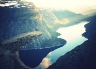 Woman on Cliff, Arvind Devalia, Goaly Blog