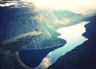 Woman on Cliff, Arvind Devalia, Goaly Blog